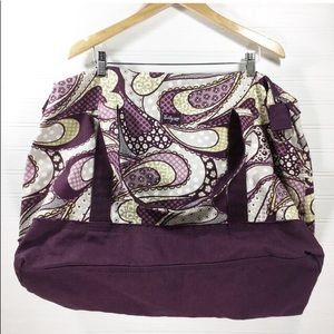 Thirty-One Retro Metro Weekender paisley bag